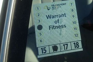 Warrant of Fitness WOF